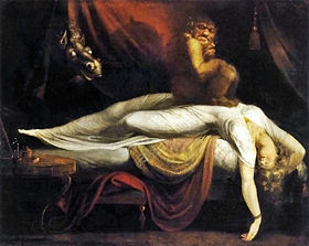 """This painting by John Henry Fuseli """"The Nightmare"""" is believed to depict Hypongogic Sleep Paralysis."""