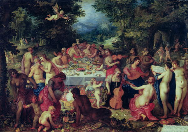 """The Banquet of the Gods"" Hendrik Van Elder Balen"