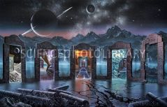 """Portals to Alternate Universes"" by David A. Hardy at Science Photo Library"