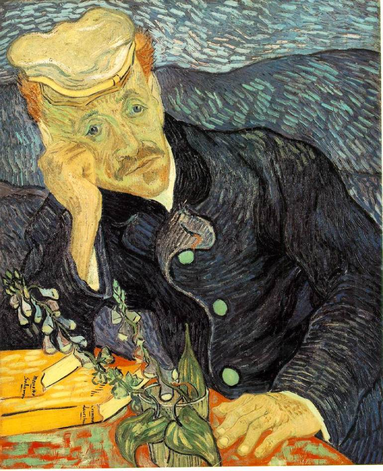 """Portrait of Dr Gachet"" by Vincent Van Gogh"